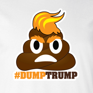 """#DumpTrump"" Graphic (on White Tee)"