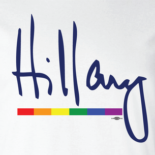 """Hillary Signature"" Graphic  (Front and Back On White Tee)"