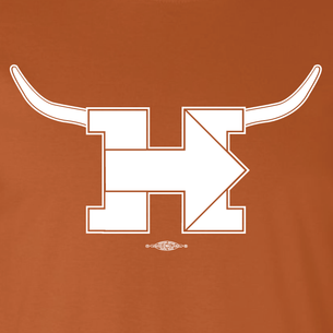 """Longhorn For Hillary"" Graphic (on Burnt Orange Tee)"