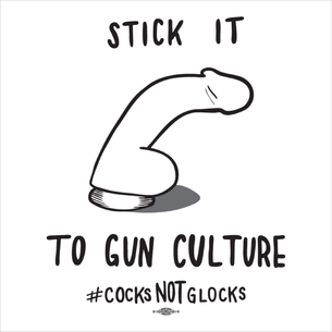 """Stick It To Gun Culture"" (on White Tee)"