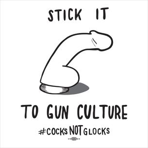 """Stick It To Gun Culture"" (on White Tee)"