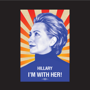 """I'm With Her"" Graphic (on Black Tee)"