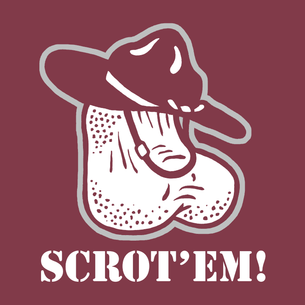 """Scrot'em"" Graphic on (Maroon Tee)"