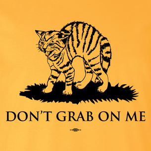 """Don't Grab On Me"" #CocksNotGlocks For The Revolution Graphic (on Gold Tee)"
