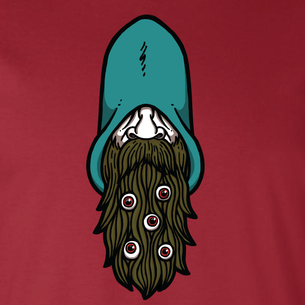 """Wizard Beard"" Graphic -- By Matt Leunig (on Cardinal Tee)"