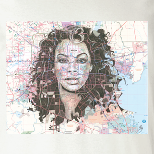 """Beyonce"" Graphic -- By Janis Fowler (on Natural Tee)"