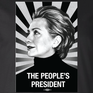"""The People's President"" Graphic (on Black Tee)"