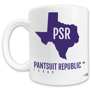 """Pantsuit Republic"" Double-Sided Mug -- 11oz ceramic"