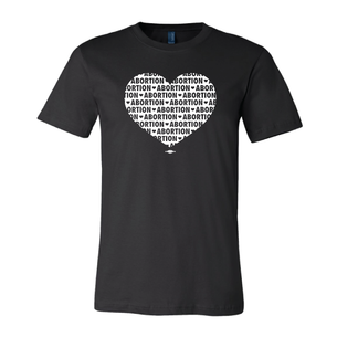 """Abortion Heart"" Black Tee from prochoicetexas.org"
