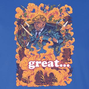 """Trumpocalypse"" Graphic by Michael Pollock (On Royal Tee)"