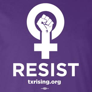 """Resist!"" Graphic (on Purple Tee)"