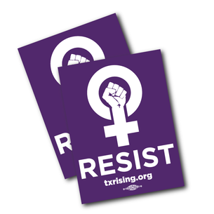 "Two ""Resist!"" 4"" x 3"" Stickers"