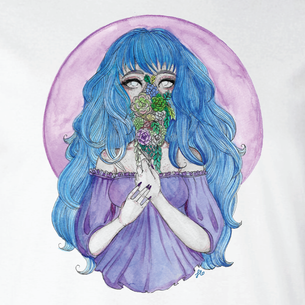 """Bloom"" Graphic -- By Fauna Lore (on White Tee)"