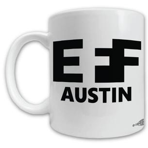 """""""EFF Austin"""" Logo Mug -- 11oz ceramic"""