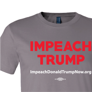 Impeach Trump Logo  Graphic (on Asphalt Tee)