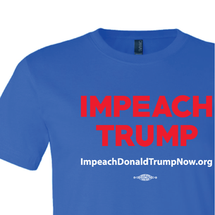 Impeach Trump Logo  Graphic (on Royal Tee)