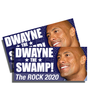 "Two ""Dwayne the Swamp"" Vinyl Sticker ( 7.5"" x 3.75"")"