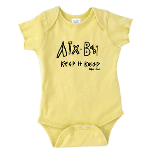 """ATX Baby"" by Art Lewis - Onesie (Banana)"