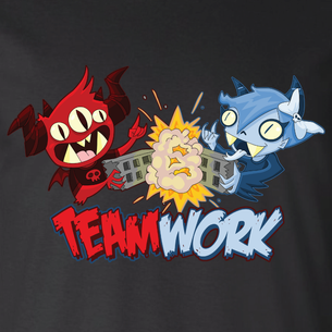 """Teamwork"" Graphic by Seth Melton (On Black Tee)"