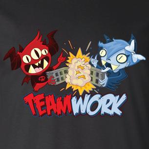 """Teamwork"" Graphic by Seth Melton (On Black Tee)"