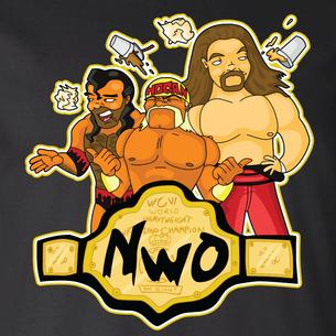 """nWo"" Graphic by Seth Melton (On Black Tee)"