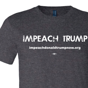 Impeach Trump Textured Logo Graphic (on Dark Heather Tee)