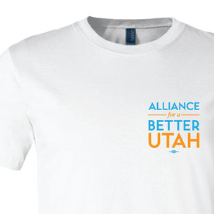 Alliance For A Better Utah Logo Graphic (on White Tee)