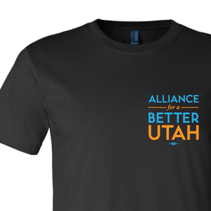 Alliance For A Better Utah Logo Graphic (on Black Tee)