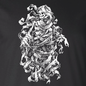"""Skeleton"" Graphic by Michael Pollock (On Black Tee)"
