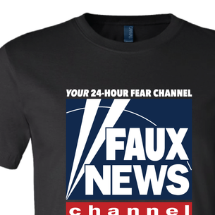 """Faux News"" Graphic (on  Black Tee)"