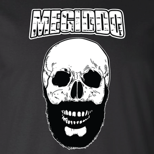 """Bearded Skull"" logo graphic (On Black Tee)"