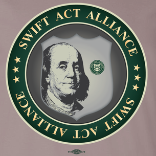 SWIFT Act Alliance Logo (On Pebble Brown Tee)
