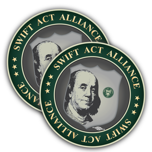 """SWIFT Act Alliance Logo"" Vinyl Stickers ( 4"" x 4"")"