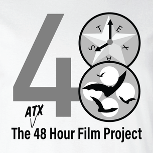 Copy of 48 Hour Film Logo - Grayscale Version  (On White Tee)