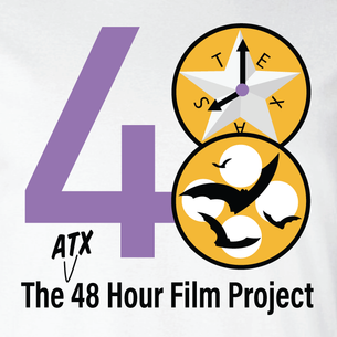 48 Hour Film Logo - Colored Version  (On White Tee)