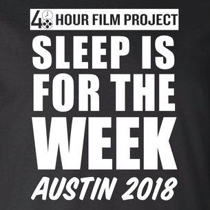 Sleep Is For The Week  (On Black Tee)