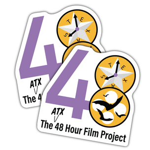 "Two ""48 Hour Film Club - Colored Version"" Vinyl Stickers ( 4"" x 4"")"
