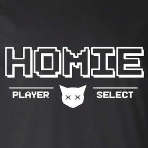 """Homies - Player Select"" Graphic (on Black Tee)"