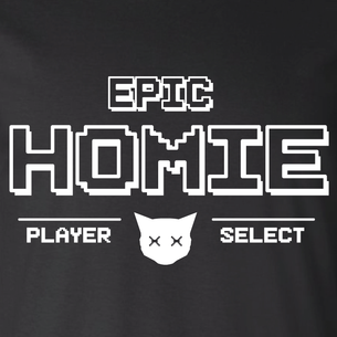 """EPIC Homies - Player Select"" Graphic (on Black Tee)"