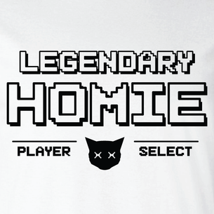 """LEGENDARY Homies - Player Select""  Graphic (on White Tee)"