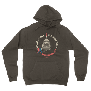 """Women Ran, Women Won"" Graphic (on Asphalt Pullover Hoodie)"