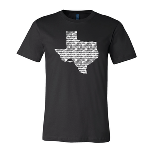 """Abortion - Texas"" (on Black Tee)"