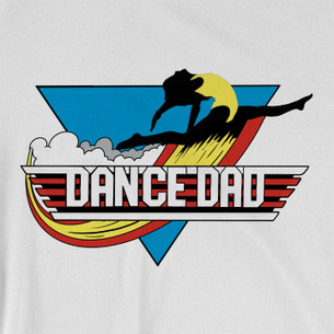 """Dance Dad Triangle"" Graphic (on White Tee)"