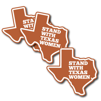 "3-Pack of ""Stand With Texas Women"" contour-cut vinyl stickers."