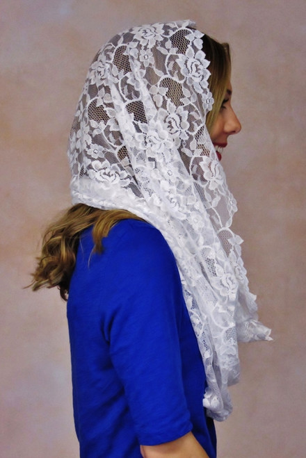 From simple, inexpensive veils to heirloom quality mantillas, Veils by Lily is a one-stop shop for soft lace and embroidery mantillas. We offer a wide range of shapes, sizes, colors, and styles of lace, including authentic French and Spanish mantillas.
