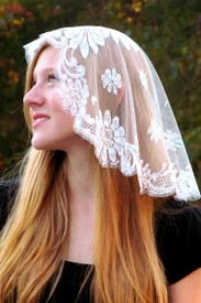 Off-White French Princess Mantilla