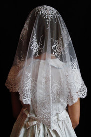 White First Holy Communion Veil
