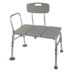 Plastic Transfer Bench with Adjustable Backrest - 12011kd-1