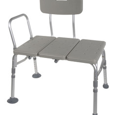 Plastic Transfer Bench with Adjustable Backrest - rtl12011kdr