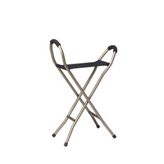 Folding Lightweight Cane with Sling Style Seat - rtl10360